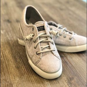 Women's Grey-White Sperry Top-Sider Shoes